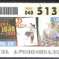 Billets ONCE: ONCE,FOGUERES DE SANT JOAN,24/06/2009.. Lote 108926611