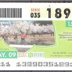 Billets ONCE: ONCE,VIAS VERDES,18/05/2009.. Lote 108927451