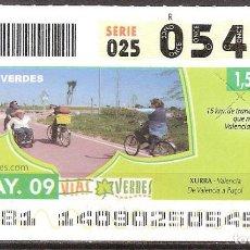 Billets ONCE: ONCE,VIAS VERDES,20/05/2009.. Lote 108927659
