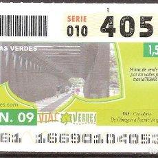 Billets ONCE: ONCE,VIAS VERDES,15/06/2009.. Lote 108927903