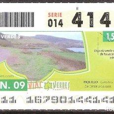Billets ONCE: ONCE,VIAS VERDES,16/06/2009.. Lote 108927931