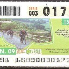 Billets ONCE: ONCE,VIAS VERDES,17/06/2009.. Lote 108927979