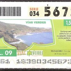 Billets ONCE: ONCE,VIAS VERDES,02/07/2009.. Lote 108928143