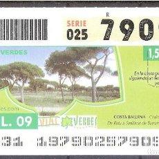 Billets ONCE: ONCE,VIAS VERDES,16/07/2009.. Lote 108928251