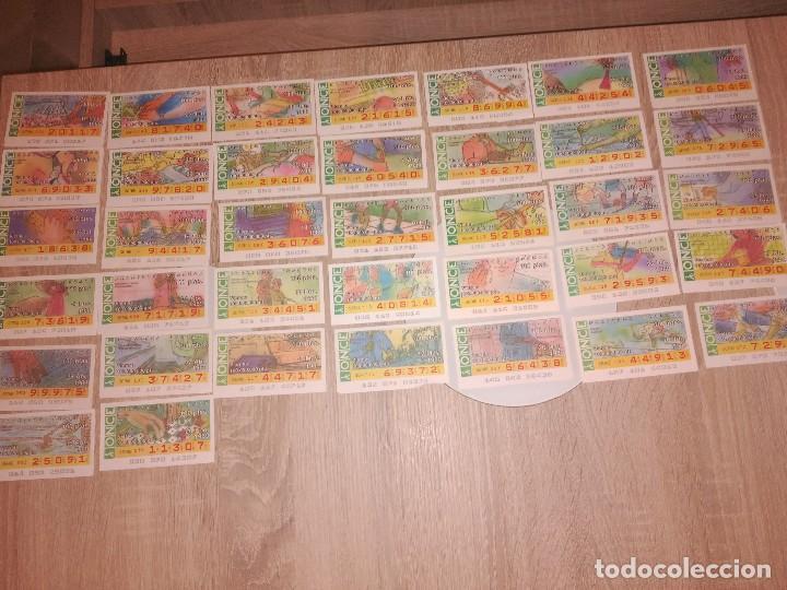 LOTE 34 CUPONES ONCE. AÑO 1989. TEMÁTICA:NOSOTROS PODEMOS (Coleccionismo - Lotería - Cupones ONCE)
