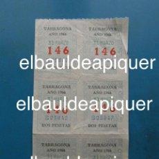 Cupones ONCE: 6 BOLETOS DEL NUMERO 146 DE LA ONCE DE MARZO DE 1966. CORRELATIVOS 3 A 3. Lote 110133671