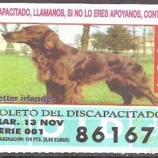 Billets ONCE: CUPON DE LA OID,13/11/2001.. Lote 110592183