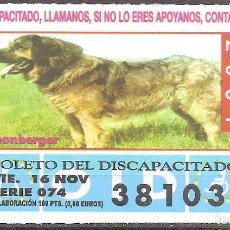 Billets ONCE: CUPON DE LA OID,16/11/2001.. Lote 110592287
