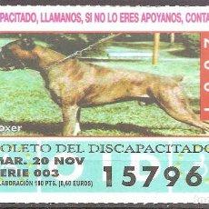 Billets ONCE: CUPON DE LA OID,20/11/2001.. Lote 110592423