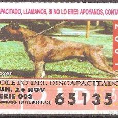 Billets ONCE: CUPON DE LA OID,26/11/2001.. Lote 110592527