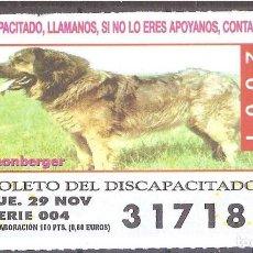 Billets ONCE: CUPON DE LA OID,29/11/2001.. Lote 110592611