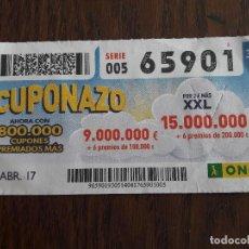 Cupones ONCE - cupón once 14-04-17 cuponazo. - 111819915