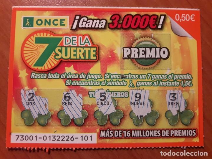 ONCE. 7 DE LA SUERTE (Coleccionismo - Lotería - Cupones ONCE)