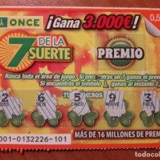Cupones ONCE: ONCE. 7 DE LA SUERTE. Lote 111908647