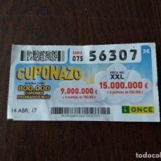 Cupones ONCE - cupón once 14-04-17 cuponazo. - 113408875