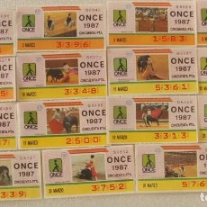 Cupones ONCE: CUPONES ONCE Y TAUROMAQUIA.. Lote 115610587