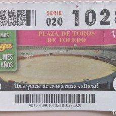 Cupones ONCE: CUPÓN ONCE. PLAZA DE TOROS DE TOLEDO. Lote 118151727