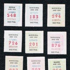 Cupones ONCE: LOTERIA 12 CUPONES ONCE DEL AÑO 1978 UNO DE CADA MES. Lote 118200403