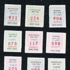 Cupones ONCE: LOTERIA 12 CUPONES ONCE DEL AÑO 1977 UNO DE CADA MES. Lote 118201591
