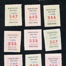 Cupones ONCE: LOTERIA 12 CUPONES ONCE DEL AÑO 1976 UNO DE CADA MES. Lote 118202335