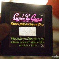 Cupones ONCE: ANTIGUO Y VINTAGE - CRISTAL DIAPOSITIVA LINTERNA MÁGICA - CRISTAL INTACTO, NUEVO - CUPÓN PRO CIEGOS. Lote 119188471