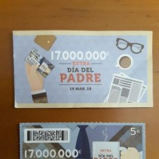 Cupones ONCE: ONCE EXTRA DÍA DEL PADRE 19 MARZO 2018 - 22266. Lote 120046751