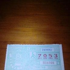 Billets ONCE: CUPON DE LA ONCE. 24 ENERO. 1985. Nº 7053. Lote 122455231