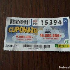 Cupones ONCE - cupón once 20-04-18 cuponazo. - 131010124
