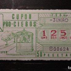 Cupones ONCE: CUPON ONCE 1984. Nº 1251. VENTA DE CUPON. 3 DE ENERO DE 1984.. Lote 131054672