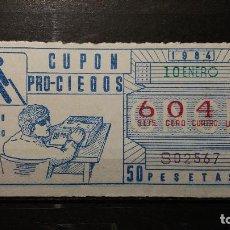 Cupones ONCE: CUPON ONCE 1984. Nº 6041. LIBRO HABLADO. 10 DE ENERO DE 1984.. Lote 131055704