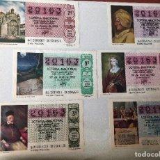 Cupones ONCE: MÁS DE 300 BOLETOS DE LOTERÍA NACIONAL (1983-1992). Lote 133539142
