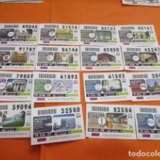 Cupones ONCE: LOTE 16 CUPON AÑO 2007 SERIE MUSEOS DE ESPAÑA. Lote 136265050