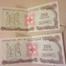 Cupones ONCE: SORTEO DE ORO DE LA CRUZ ROJA. Lote 139479838