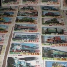 Cupones ONCE: ONCE,AÑO 1999,LOTE DE 29 CUPONES DIFERENTES,(150 AÑOS DEL FERROCARRIL EN ESPAÑA). Lote 140389650