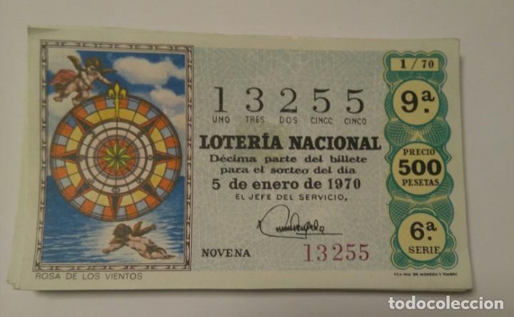 LOTERÍA NACIONAL 1970 COMPLETO.36 DECIMOS (Coleccionismo - Lotería - Cupones ONCE)