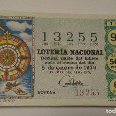 Cupones ONCE: LOTERÍA NACIONAL 1970 COMPLETO.36 DECIMOS. Lote 141688582