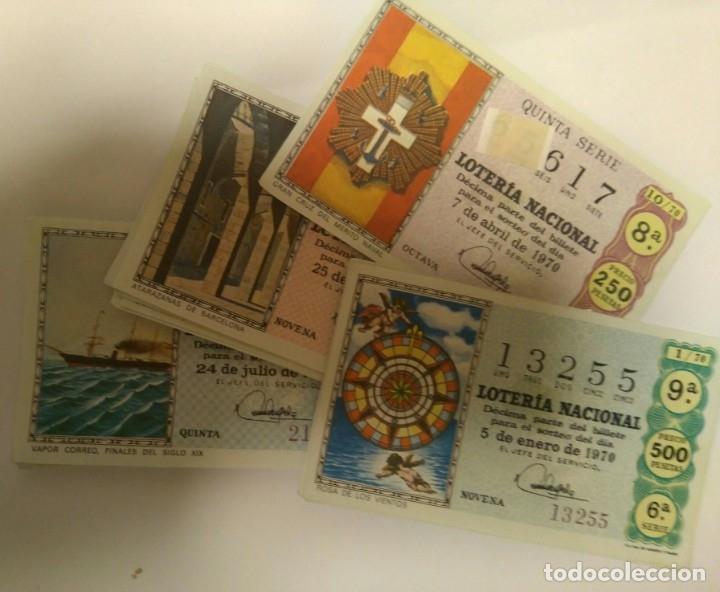 Cupones ONCE: Lotería nacional 1970 completo.36 decimos - Foto 2 - 141688582