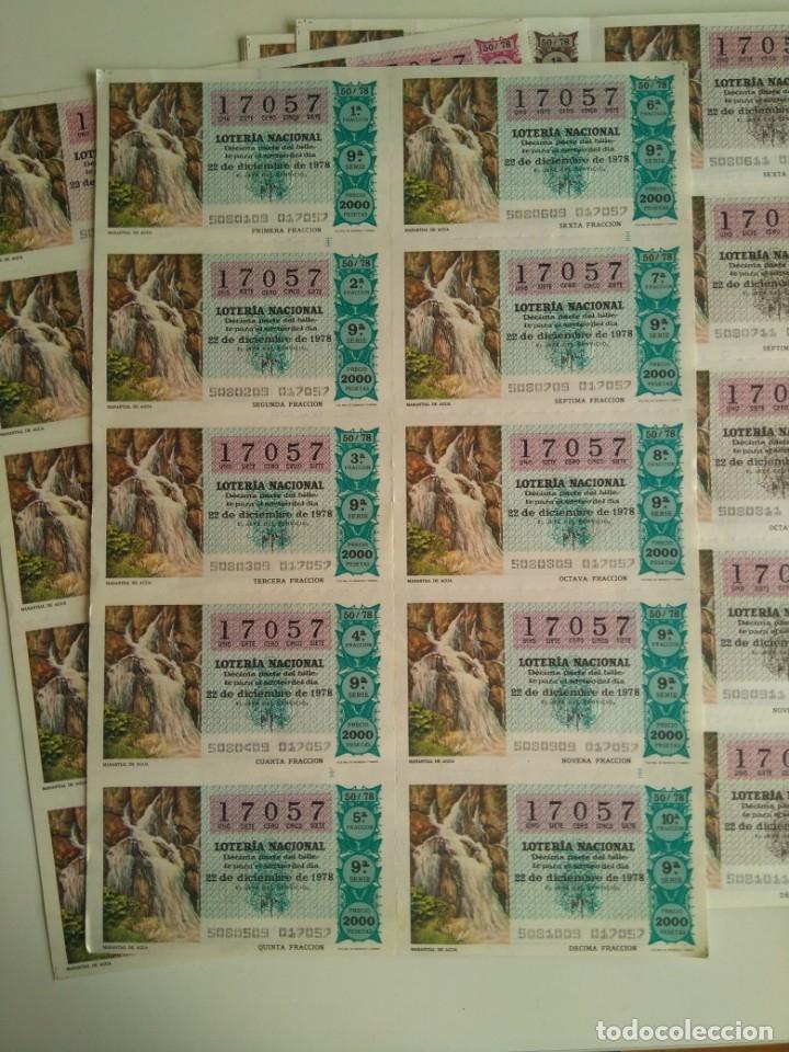 Cupones ONCE: Lote 25 pliegos de 10 decimos lotería 1978, 1980, 1988 - Foto 3 - 143157238