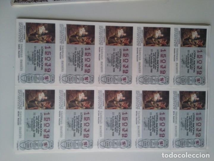 Cupones ONCE: Lote 25 pliegos de 10 decimos lotería 1978, 1980, 1988 - Foto 4 - 143157238