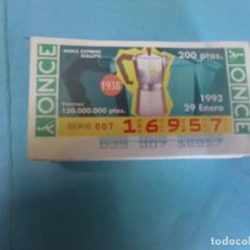 Cupones ONCE: CUPON ONCE 1993, AÑO COMPLETO. Lote 158656242