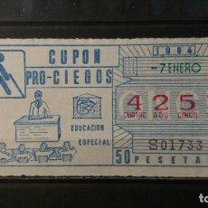 Cupones ONCE: CUPON ONCE 1984. Nº 4253. EDUCACION ESPECIAL. 7 DE ENERO DE 1984.. Lote 151570270