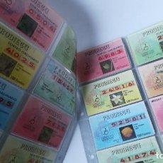 Cupones ONCE: SET 52 DÉCIMOS LOTERÍA PRODIECU AÑO 1987 . Lote 151899494