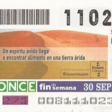 Cupones ONCE: CUPON ONCE - 11023 - SORTEO 30 SEPTIEMBRE 2001 - FRASES CELEBRES. Lote 152216592