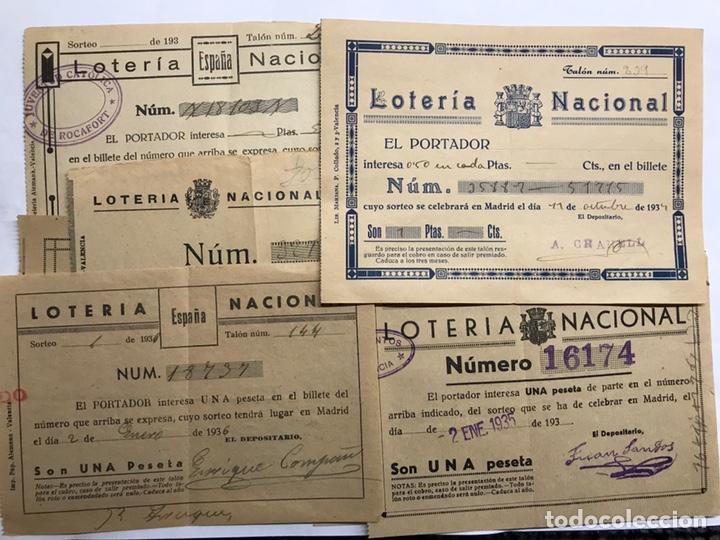 LOTERÍAS. (3) SURTIDO PAPELETAS, PARTICIPACIONES LOTERÍA DE NAVIDAD (A.1933-1939) (Coleccionismo - Lotería - Cupones ONCE)