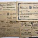 Cupones ONCE: LOTERÍAS. (3) SURTIDO PAPELETAS, PARTICIPACIONES LOTERÍA DE NAVIDAD (A.1933-1939). Lote 156772097