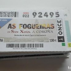 Cupones ONCE: 114 DECIMOS DE LA ONCE. Lote 158078882