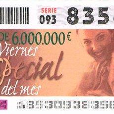 Cupones ONCE: CUPON DE LA ONCE DEL 41 DE JULIO DE 2003, VIERNES ESPECIAL DEL MES. Lote 158126770