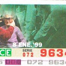 Cupones ONCE: CUPON DE LA ONCE DEL 8-1-1999. 60 AÑOS DE SERVICIOS SOCIALES: REHABILITACIÓN VISUAL. Lote 158128558