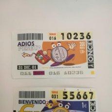 Cupones ONCE: CUPONES PESETA Y EURO. Lote 160038506