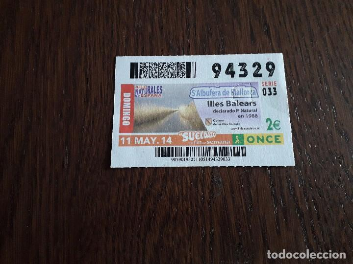 CUPÓN ONCE 11-05-14 PARQUES NATURALES DE ESPAÑA, S'ALBUFERA DE MALLORCA (Coleccionismo - Lotería - Cupones ONCE)